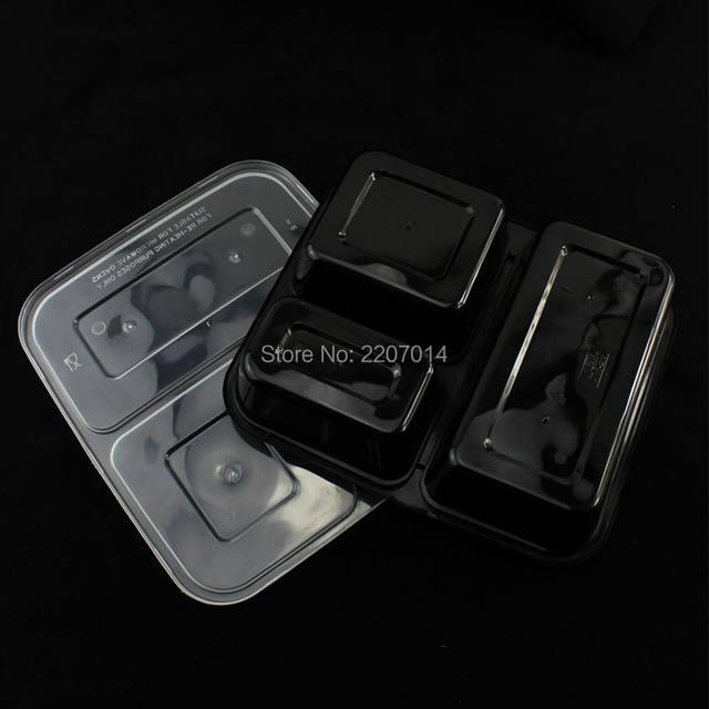 Online Shop 10 Pcs Disposable plastic plates 3-Compartment Microwave safe black Container with lidider | Aliexpress Mobile & Online Shop 10 Pcs Disposable plastic plates 3-Compartment Microwave ...