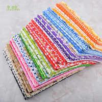 Chainho, 60 pçs/lote, ColorfulThin Plain Algodão Patchwork Tecido Para Estofar DIY & Costura, tela de Tecido Fat Quarters Bundle Material,