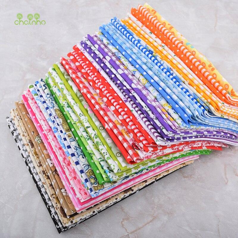 Chainho, 60 шт./партия, цветное простое лоскутное изделие из хлопчатобумажной ткани для самостоятельного шитья и шитья, жир четвертей пачка ткани Tela материал,