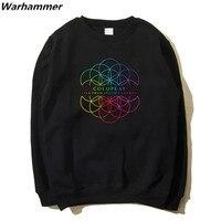 Warhammer 2017 Winter Autumn Coldplay Hoodie Sweatshirt Rock Print Live From Spotify London Fleece Cotton 2XL Hoodie Ship Brazil