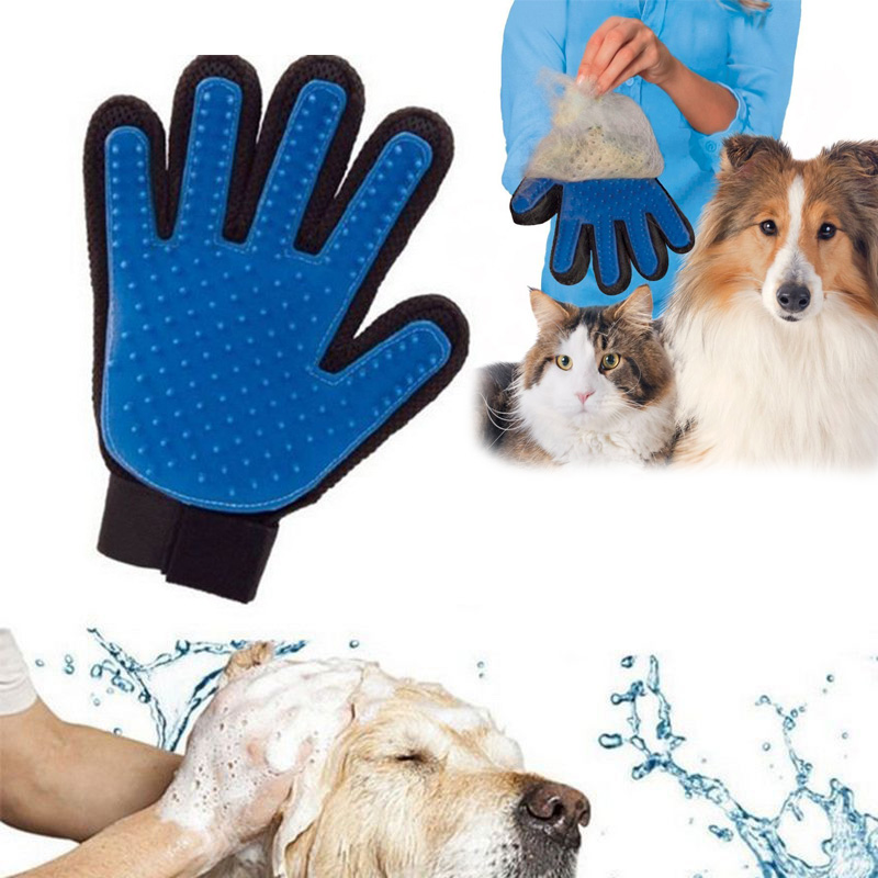 True Touch Pet Finger For Cat Dogs Pet Brush Glove Shedding Pet Hair Glove For Cat Gentle Efficient Finger Massage Grooming S1