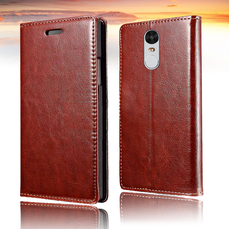Para Xiaomi Redmi note 4 Flip Case Funda de cuero PU Funda Xiomi - Accesorios y repuestos para celulares - foto 1