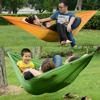 2 personas portable paracaídas hamaca camping supervivencia jardín flyknit Caza Hamac viaje doble persona hamak
