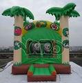 Selva gorila inflable casa de la despedida inflable de salto del puente moonwalk