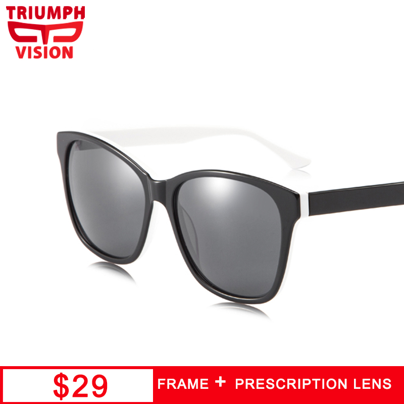 TRIUMPH VISION Prescription Eye Glasses Men UV400 Protection Myopia Sun Glasses for Nearsighted Farsighted Eyewear Graduated