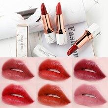 Купить с кэшбэком HOLD LIVE Brand Makeup White Jade Marble Matte Lipsticks Waterproof Long Lasting Velvet Lip Stick Pigment Nude Make Up Dropship
