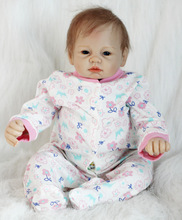 best Boneca Reborn 22inch Soft Silicone Vinyl Dolls 55cm Baby Doll New born Lifelike Bebe hot sale toy