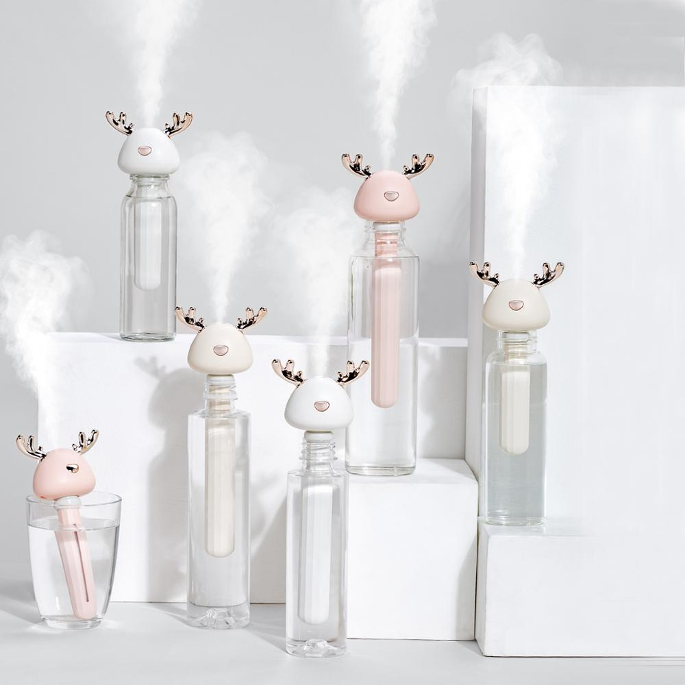 Mini Deer Humidifier Ultrasonic Cool Mist USB Air Humidificadors For Hotel Travel Car Office Living Room Aroma Air Diffuser