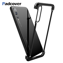 Luxury Airbag Metal Protection Case For Huawei P30 P20 lite Shell for Pro case Slim Bumper cover