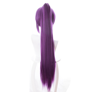 Image 2 - L email wig Game Fate Grand Order Lancer Scathach Cosplay Wigs Long Straight Heat Resistant Synthetic Hair Perucas Cosplay Wig