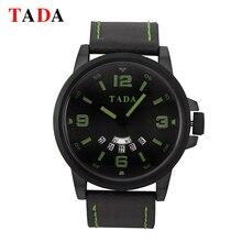 TADA Marca 3ATM Impermeable de Cuero superior de Lujo Relojes de Los Hombres de Ventas Calientes de la Alta Calidad Del Ejército Hombre Reloj relogio masculino relojes
