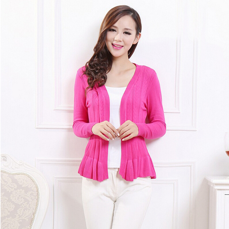 Dropshipping Ladies Candy Color Cardigan Sweaters 2017 Spring .