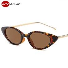 UVLAIK Mode Cat Eye Sunglasses Wanita Merek Designer Logam Kaki Kecil Oval  Cateye Kacamata Matahari Untuk Wanita Hadiah Shades U.. 42cbdd93f8
