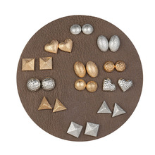цена на 12 pair/set 2019 Fashion Stud Earrings Set For Women Accessories Vintage Metal Geometric Trendy Jewelry Gift  boucle d'oreille