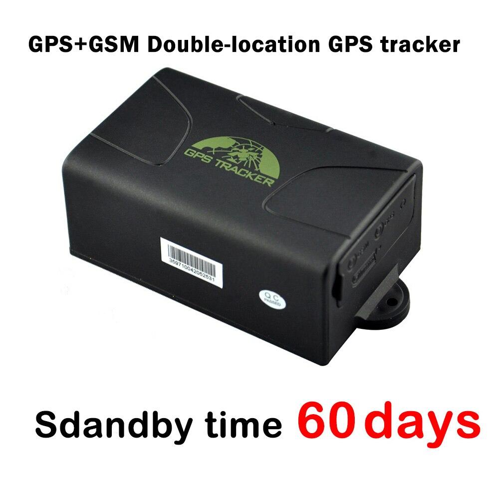 Traqueur de Gps de voiture d'aimant de temps de veille de 60 jours Gps104/Tk104, traqueur imperméable de gps de véhicule de Double-location de Gps de Gps