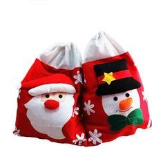 Snowman Christmas Gift Bags Santa Claus Big Candy Bag XMAS D