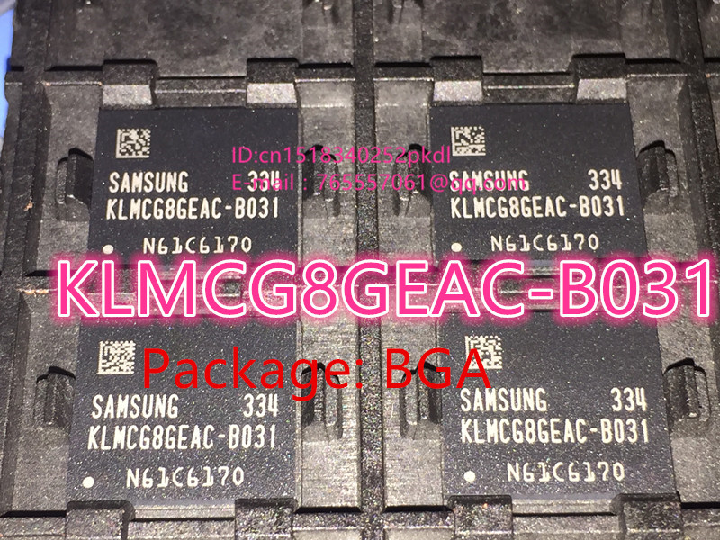 1PCS 2PCS 5PCS 10PCS 100 Brand new imported original KLMCG8GEAC B031 BGA 153 EMMC series