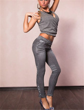 Free Drop Shipping T2418 Good quality fashion womens leggins slimming jean leggings ankle length fitness women winter leggings