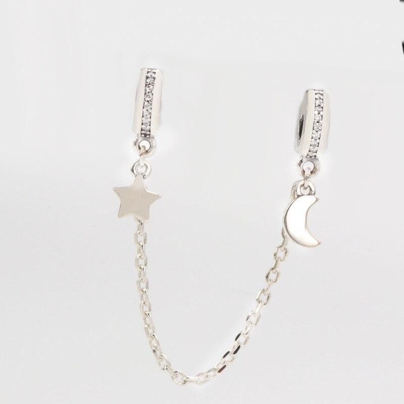 Tiff Pan S925 Sterling Silber, Diy Armband Zubehör, Neue Sterne, Mond Europa Und Neue Produkte Xingyue Xinghe Sicherheit Kette Lad SchnäPpchenverkauf Zum Jahresende