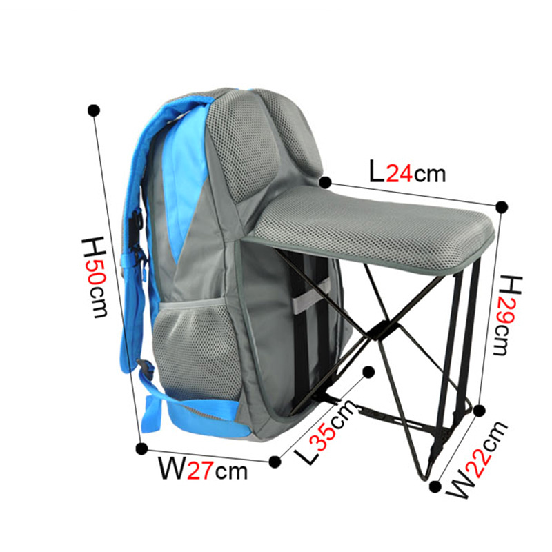 47L High quality Outdoor Fishing Chair Portable Folding Stool Backpack Travel Climbing Outdoor User Chair Backpack