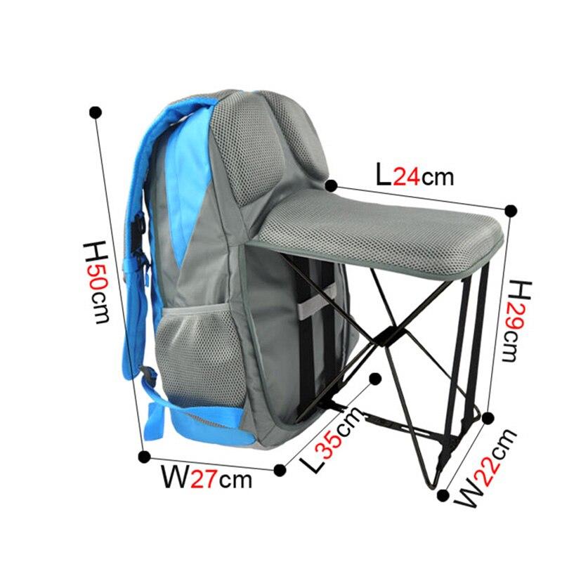 47L haute qualité en plein air chaise de pêche Portable pliant tabouret sac à dos voyage escalade en plein air utilisateur chaise sac à dos