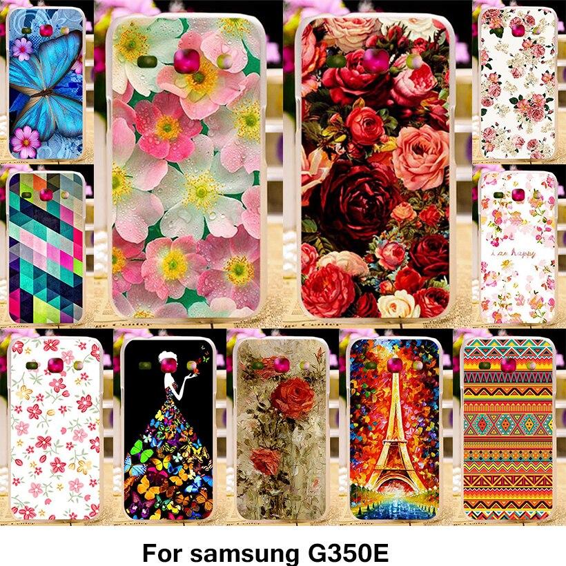 TAOYUNXI Phone Cover Case For Samsung Galaxy Star Advance Star 2 Plus SM-G350E G350E  4.3 inch Case TPU Pastic Flower Rose Cover