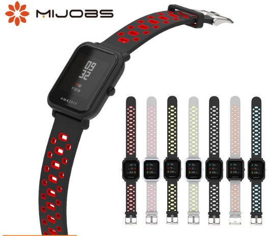 Mijobs Wrist-Strap Replacement-Band Smart-Watch Amazfit Xiaomi Sports Silicone Youth