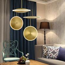 L Modern minimalist light luxury flying saucer copper chandelier bedroom bedside creative living room bar table acrylic lamp led(China)