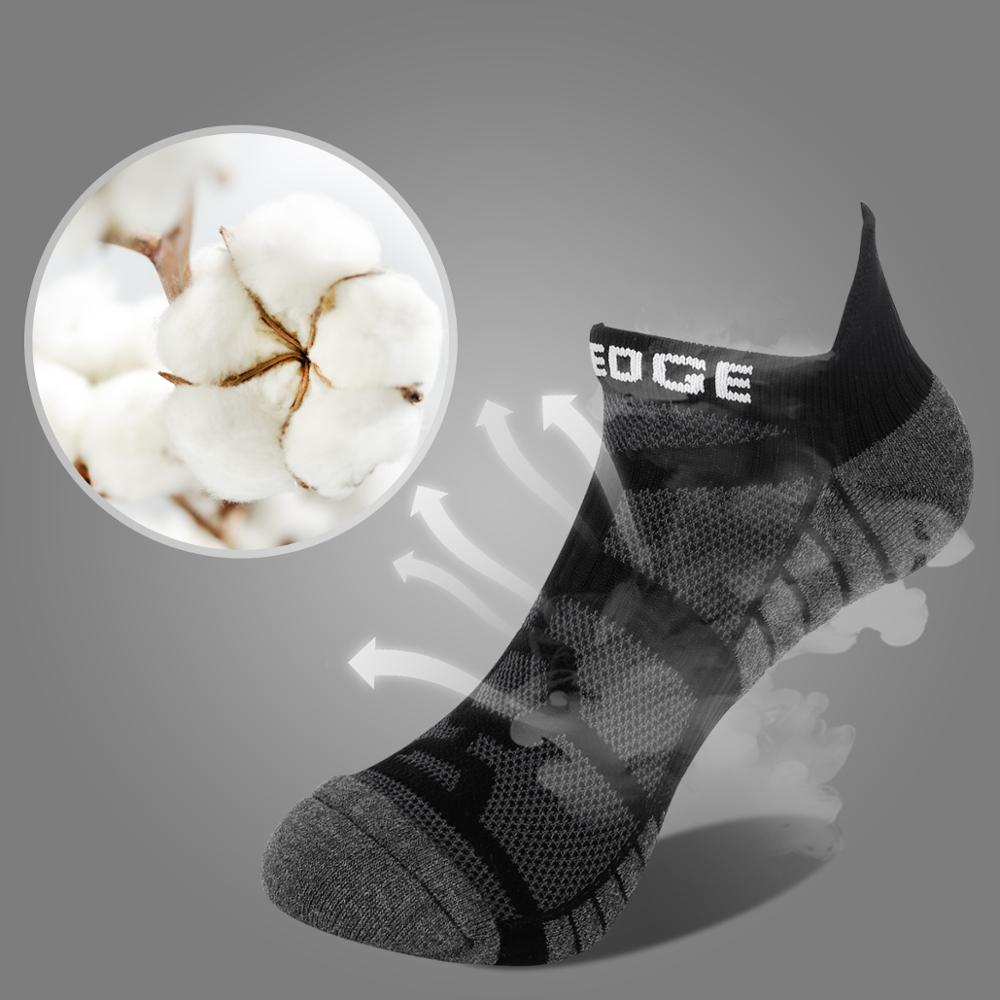 Image 4 - YUEDGE 5 Pairs Men And Women Black Cushion Cotton Comfort Breathable Casual Sports Running Low Cut Ankle Socks( 5 Pair/Pack)Mens Socks   -