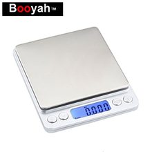 500g Pocket Digital Jewelry Scales Portable Mini Electronic Scale Kitchen Food baking Scales With 2 Trays Weight Accuracy Gram(China)