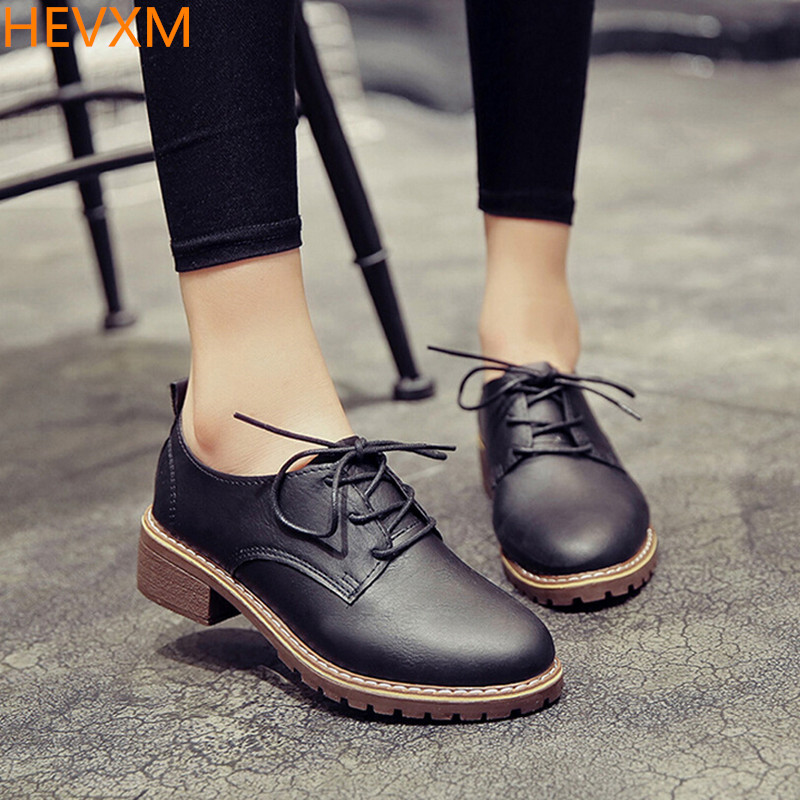 HEVXM 2017 autumn new ladies lace with shallow rounded round small shoes women fashion casual work