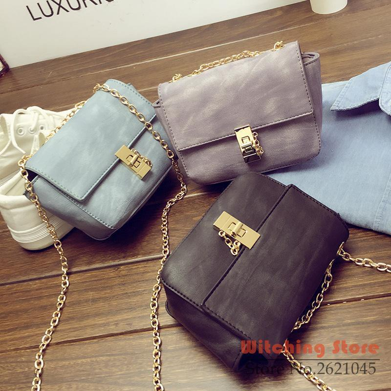 Perfect# 2016 new fashion handbags tide South Korea version of the mini chain lock single shoulder bag FREE SHIPPING