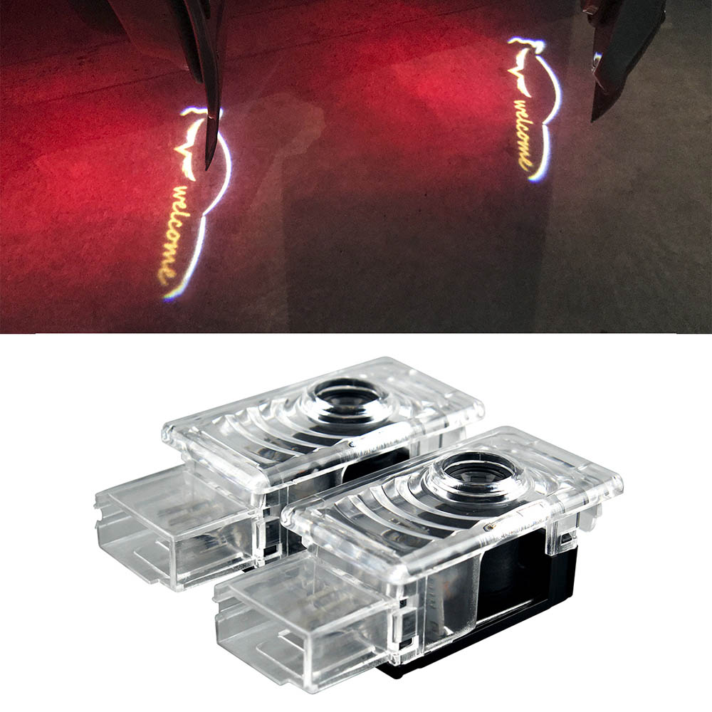 2pcs Automobiles Welcome Logo Courtesy Light For Cadillac SRX ATS CTS XTS Projector Laser Door Ghost Shadow Lights Car Styling