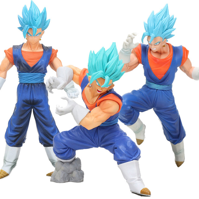 Kamehameha 18-23 cm Dragon Ball Z Brinquedos Final Deus Super Saiyajin Vegetto SS PVC Action Figure Dragonball Figuras modelo Azul VEGETTO