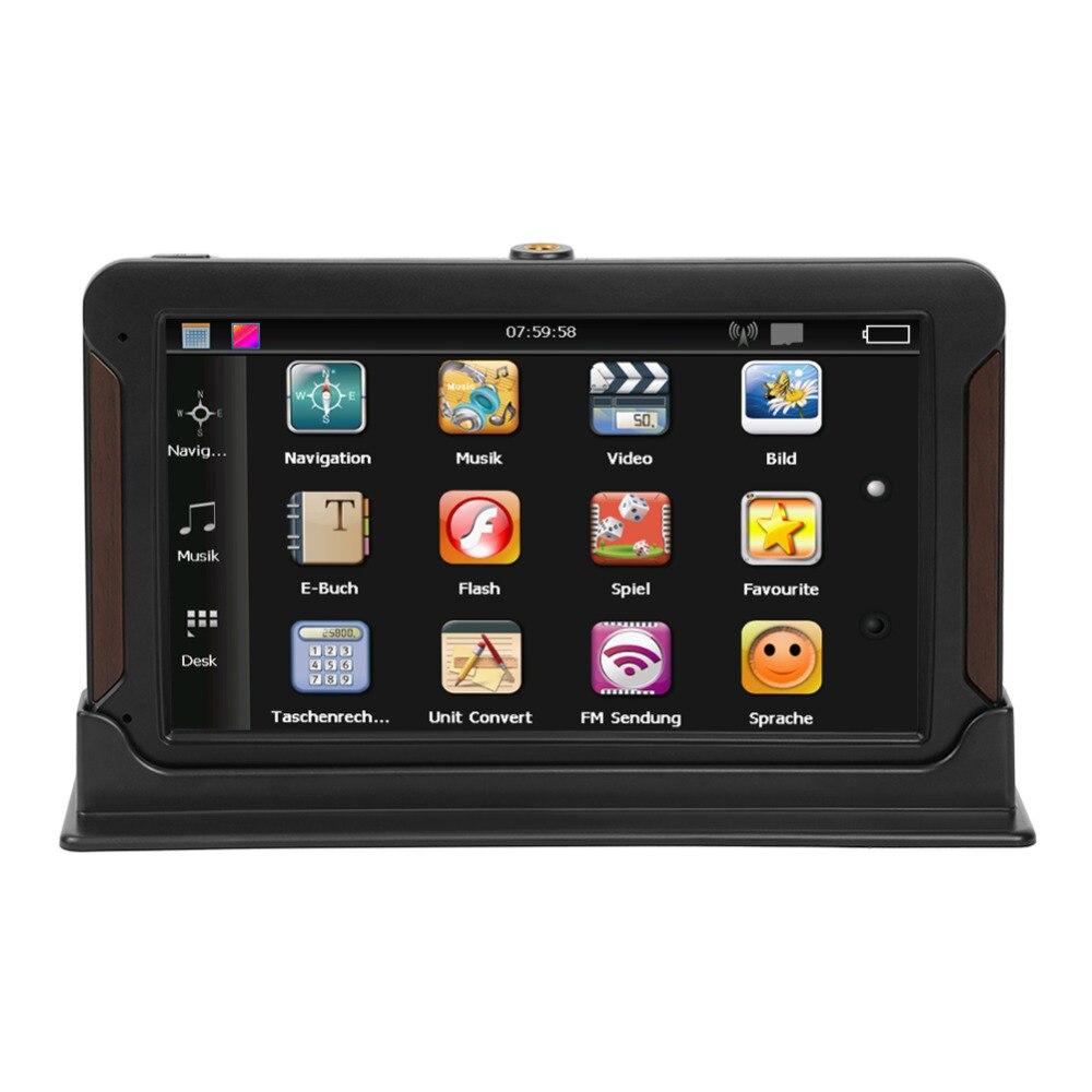 VODOOL 7 pouces Capacitif écran tactile Console navigateur gps de voiture 128 MB RAM 8 GB ROM HD navigation gps MP5 Lecteur Avec TF emplacement pour cartes