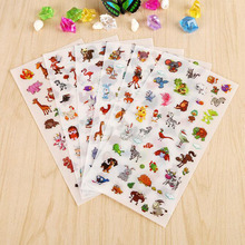 6 Pcs / Pack Korean Stationery Wholesale Cute Zoo Transparent Background Stickers Diary Decorative Stickers