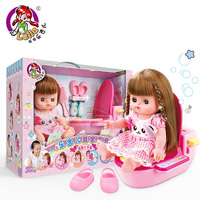 Music Toys Baby Kawaii Doll Set With Toilet Simulation Brinquedos Dolls Clothes For Dolls Silicone Baby