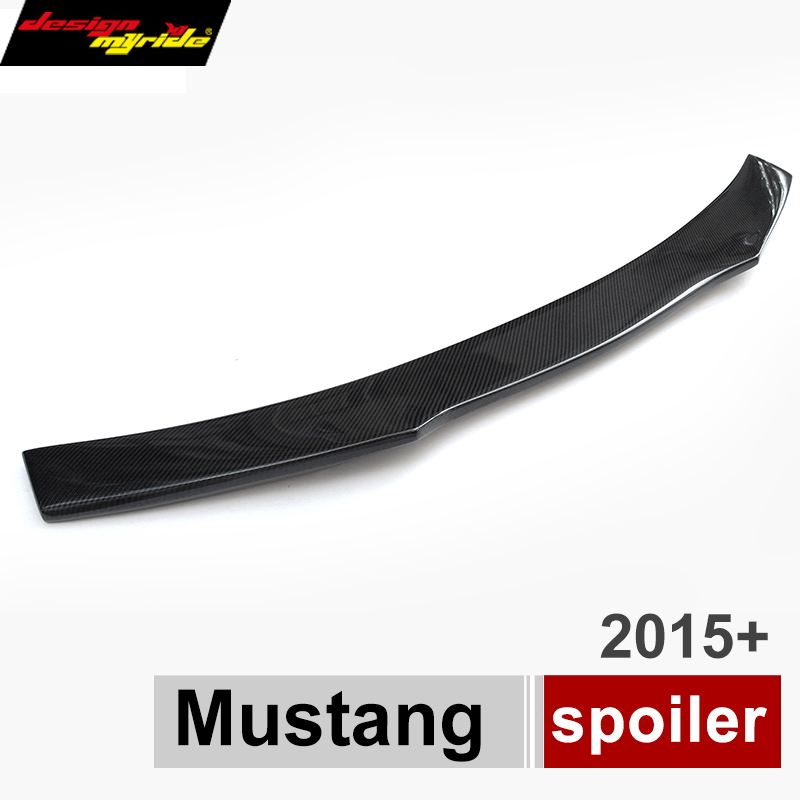 <font><b>Mustang</b></font> Carbon Fiber Rear Trunk <font><b>Spoiler</b></font> Wing For Ford <font><b>Mustang</b></font> <font><b>2015</b></font> - Present 2-Doors Coupe Cabriolet Lip <font><b>Spoiler</b></font> Wing image