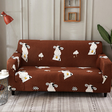 PORSIA 18 Colors Slipcover Sofa Cover Cartoon Sectional Polyester Elastic Cushion 1/2/3/4-Seater Cove Printed