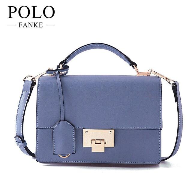 Fanke Polo Pu Leather Women Bag Elegant Designer Handbags Lady Shoulder Crossbody Bags Casual Messenger Hand