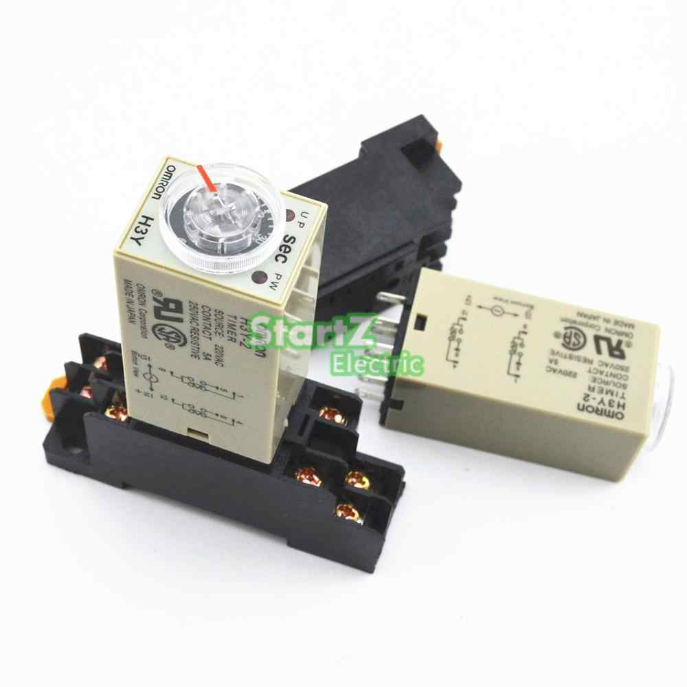 hight resolution of h3y 2 ac 220v delay timer time relay 0 3 sec with base