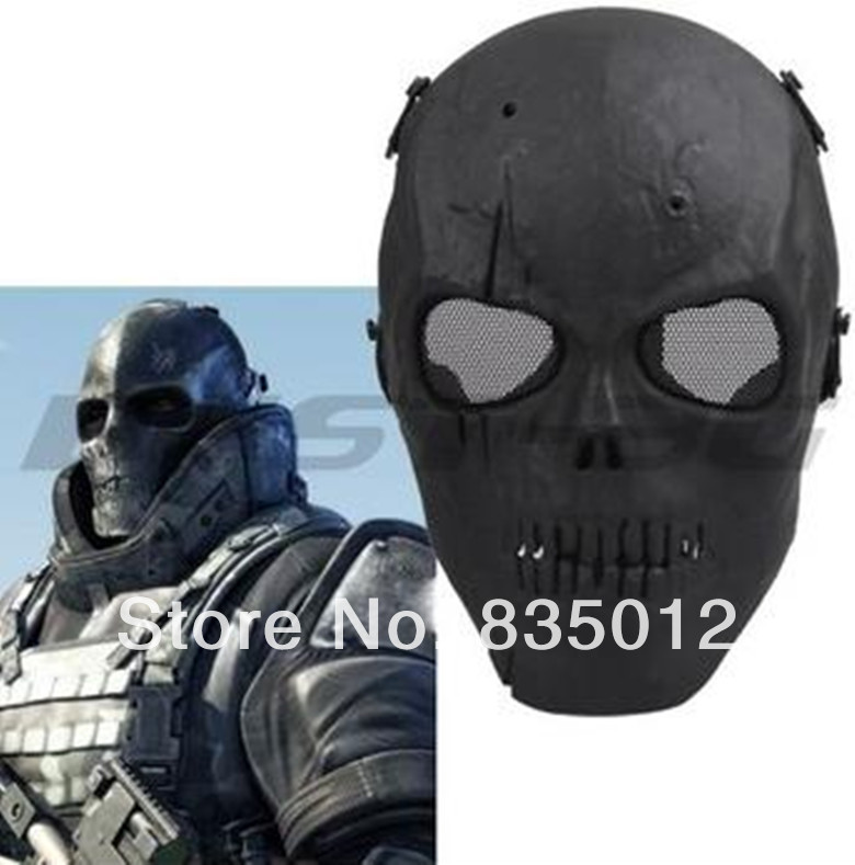 Skull Skeleton Airsoft Paintball BB Gun Full Face Protect Mask 4 color can choosed - & Airsof Equipment store