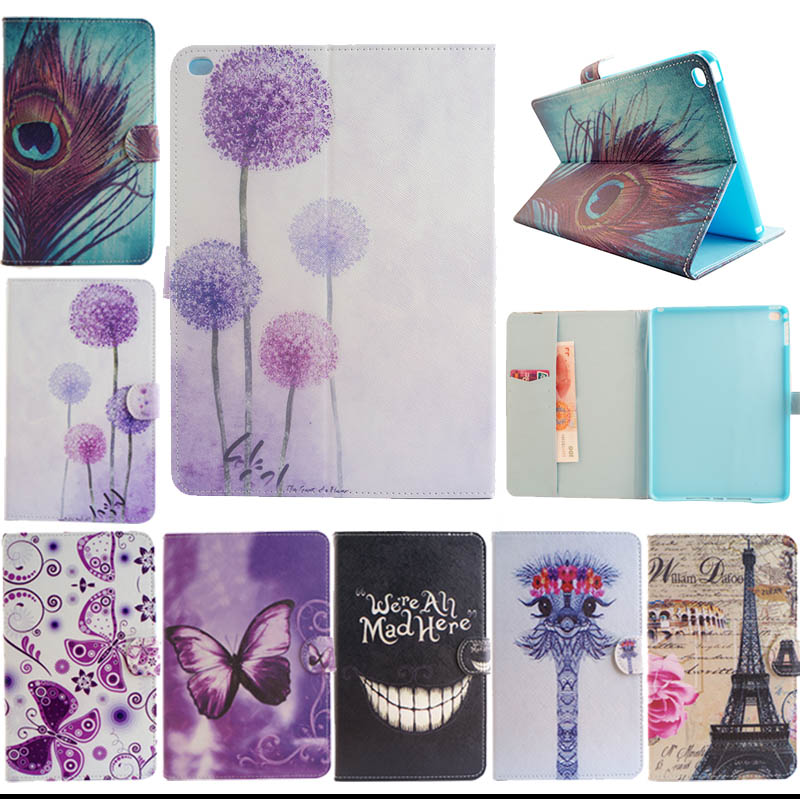 Fashion Stand Flip Cover for apple ipad air 2 for iPad 6 cases Protective Skin Folio PU Leather Case for ipad air2 coversY5555D