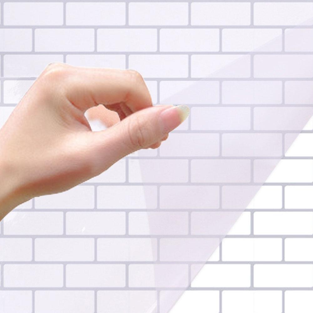 1* Transparent Oil Proof Wall Sticker Waterproof Keep Clean Wall Paper Decor NE8