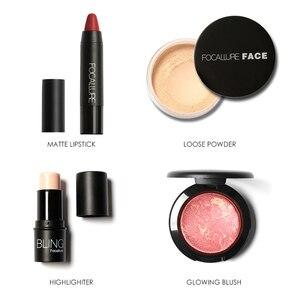 Image 3 - FOCALLURE 8 PCS Makup Tool Kit Moet Hebben Cosmetica Inclusief Glitter Oogschaduw Matte Lippenstift Blush Mascara Met Make Up Tas