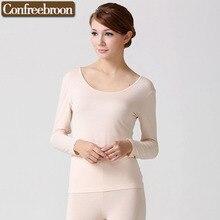 High Elastic Women's Thermal Underwear Top Low-Cut Soft Bodysuit Modal Female Thin Warm Clothing In Autumn Or Winter 713T-shirt