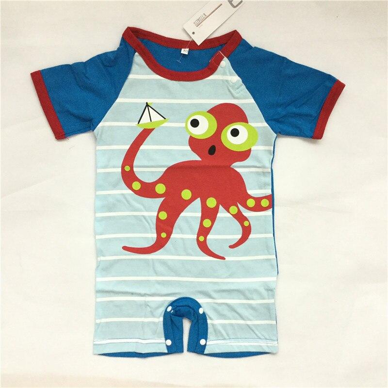 Baby Clothes Baby Animal Rompers 100% Soft Cotton Short Sleeve Cartoon Newborn Girls Boys Jumpsuit Baby Infant Onesie Costume