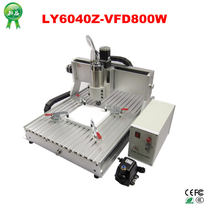 цены  Free tax to Russia  cnc router wood cutting machine LY 6040 Z-VFD with 800W spindle for aluminum metal wood