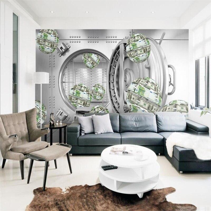 US $8.7 42% di SCONTO|Beibehang Custom wallpaper3d dollaro sfera astratta  spazio creativo carta da parati camera da letto TV divano sfondo  decorazione ...