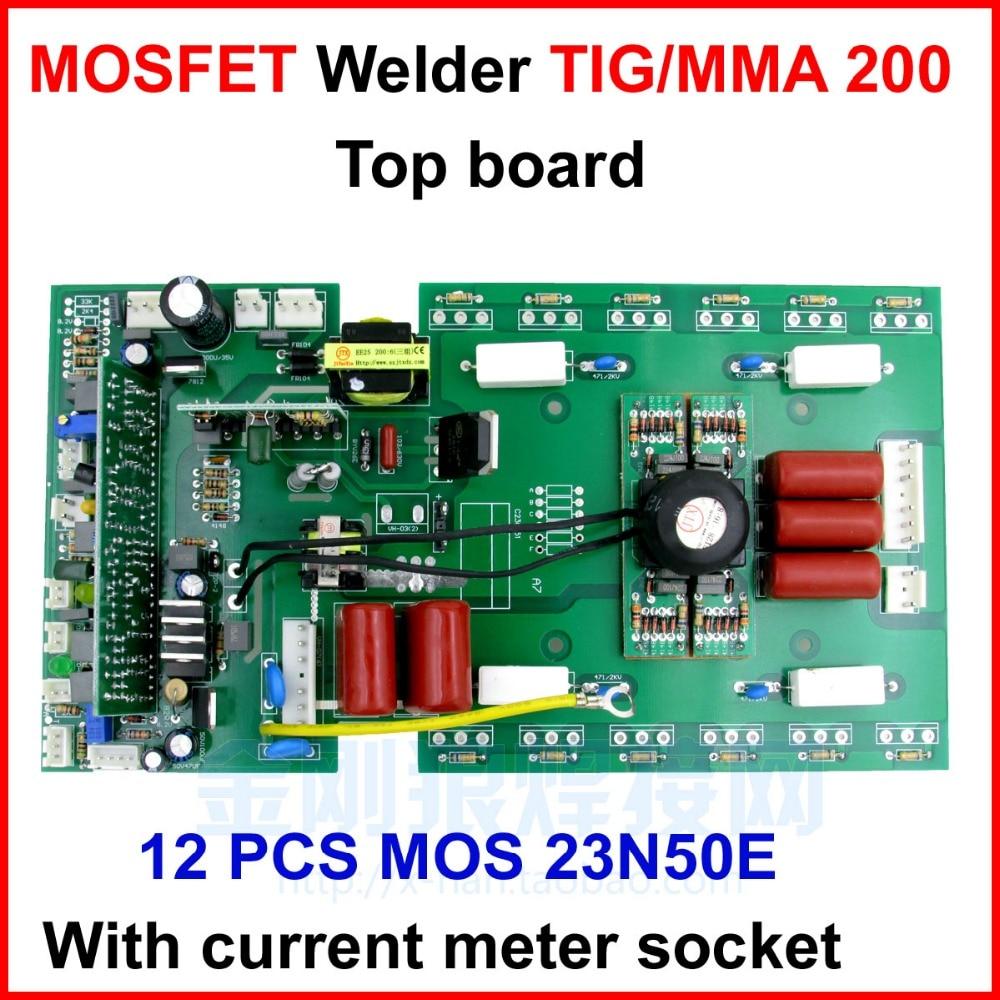 WS 200 250 Верхняя плата управления карты для MOSFET cotrollled MMA/TIG сварочный аппарат